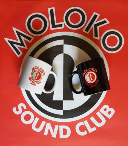 Taza - 12€</br>Contacta con nosotros:</br>molokosc@molokosoundclub.com ó al teléfono 626529967